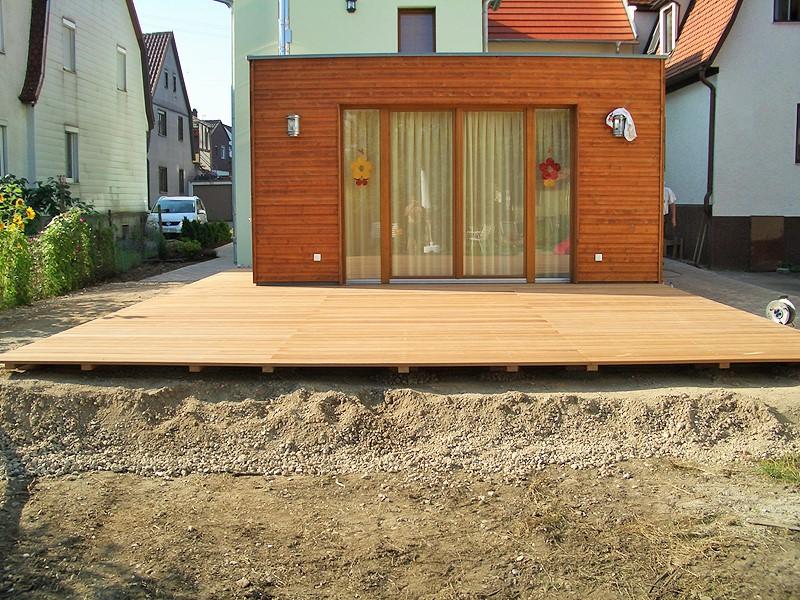 terrasse aus garapa holz holzbau breckel. Black Bedroom Furniture Sets. Home Design Ideas